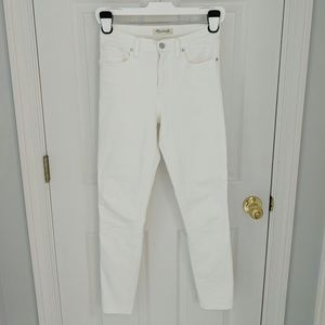 Madewell High-Rise Skinny Jeans in Pure White